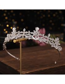 Corona De Flores Geométricas De Diamantes De Imitación