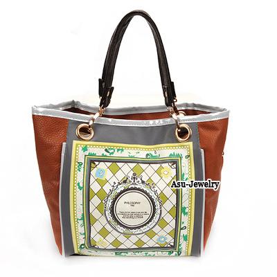 Spiritual Coffee Vintage Pattern Charm Design PU Handbags