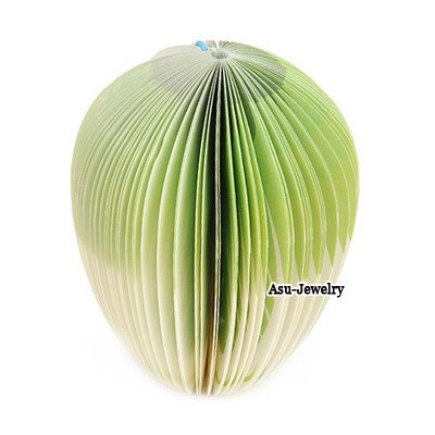 Handcrafte Apple Green Cute Cabbage Shape Paper Scratch Pad Sticky