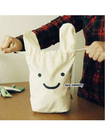 Luxury White Cute Rabbit Design