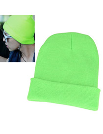 Bridal Green Simple Knitting Wool Fashion Hats
