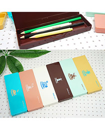 Padded Random Color Oceans Design Resin Pencil Case Paper Bags