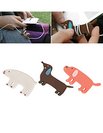 Drawstring Random Color Cartoon Animal Design Rubber Cord Fixer