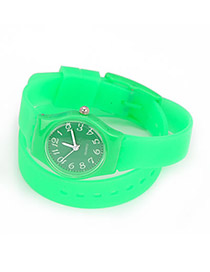 Dancing Green Candy Color Double Layer Watchband