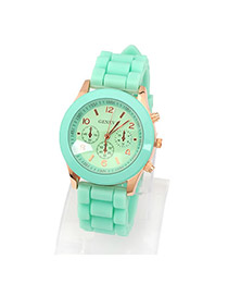 Small Green Elly Fluorescence Color Alloy Ladies Watches