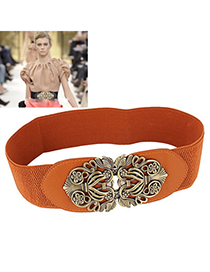 Summer Brown Carve Flower Wide Design