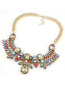 Streamline multicolor gemstone decorated design