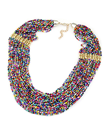 Health Multicolor Beads Decorated Multilayer Design