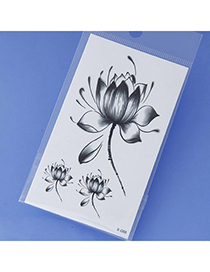 Best Gray Flower Pattern Simple Design Tape Tattoos Body Art