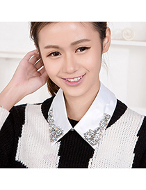 Woolrich White Gemstone Decorated Simple Design