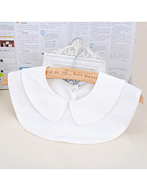 Patagonia White Pure Color Round Collar Design Cotton Detachable Collars