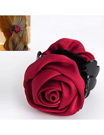 Elegant Claret-red Rose Shape Decorated Simple Design