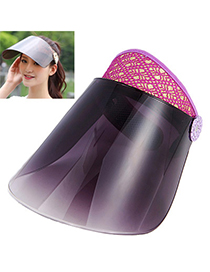 Adjustable Purple & Gray Adumbral Empty Hat Shape Simple Design