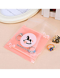 Sweet Pink Wooden Horse Pattern Simple Design Polypropylene Jewelry Tools