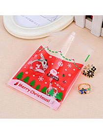 Sweet Red Santa Claus Pattern Simple Design Polypropylene Jewelry Tools