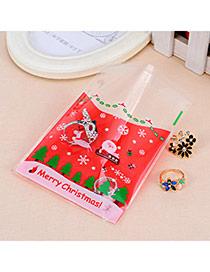 Sweet Red Santa Claus Pattern Simple Design (100pcs)