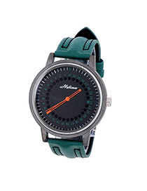 Fashion Green Circular Hole Decorated Simple Design  Alloy Men's Watches