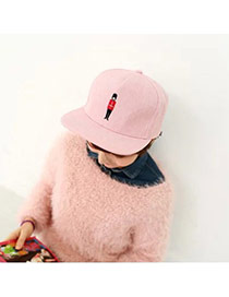 Fashion Pink Soldier Embroideried Decorated Simple Design  Canvas Baseball Caps