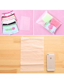 Concise Transparent White Pure Color Sealed Design