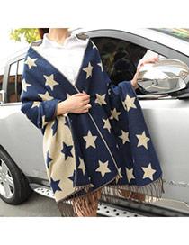 Fashion Blue Star Pattern Tassel Design