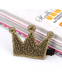 Sweet Gold Color Crown Shape Decorated Simple Design Fabric Kids Accessories