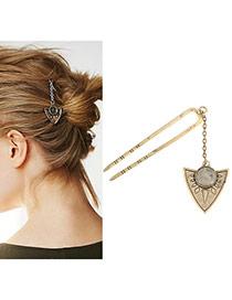 Fashion Gold Color Gemstone Decorated Heart Shape Pendant Design