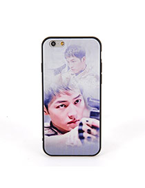 Fashion Gray Soldier Pattern Decorated Dots Descendants Of The Sun
