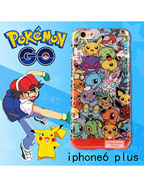 Cute Multi-color Monster Shape Pattern Decorated Ipone6 Plus Cases