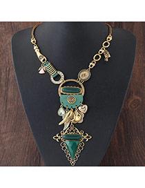 Collar Del Estilo Vintage En Forma De Geométrico